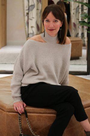 woven heart sweater