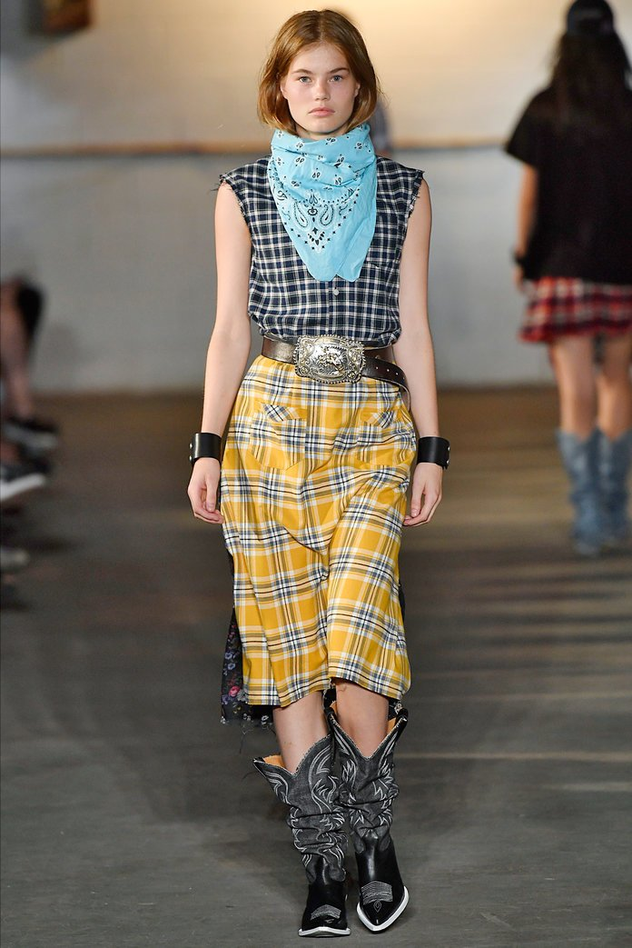 western trend on the runway