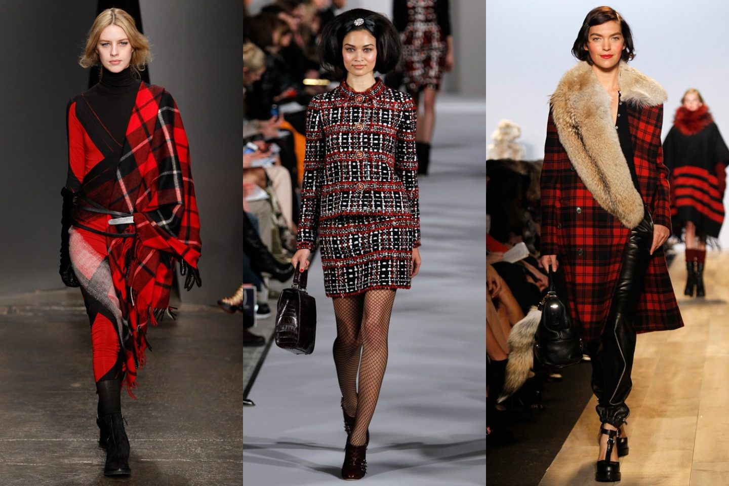 plaid trend on the runway