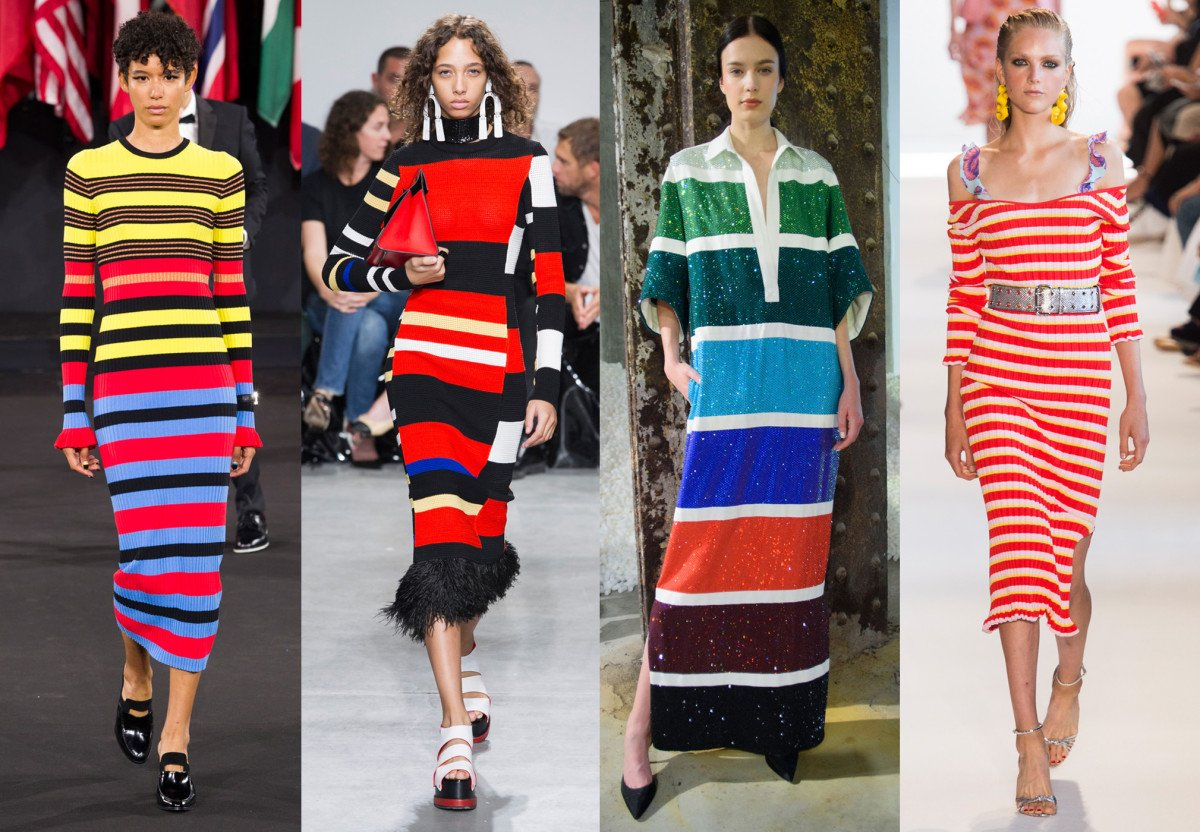 stripes trend on the runway