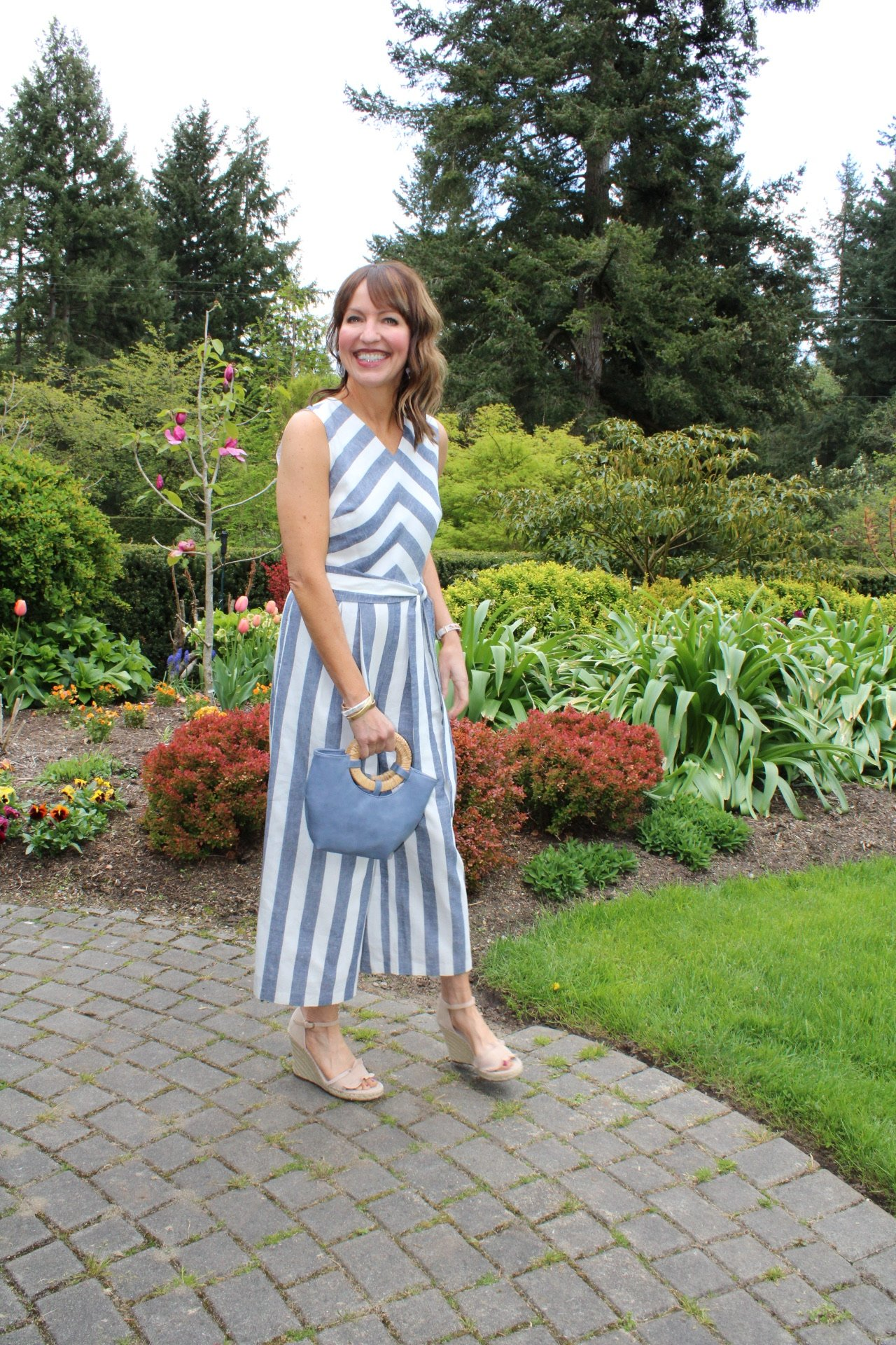 what to wear to a special event, striped jumpsuit, special occasion styling