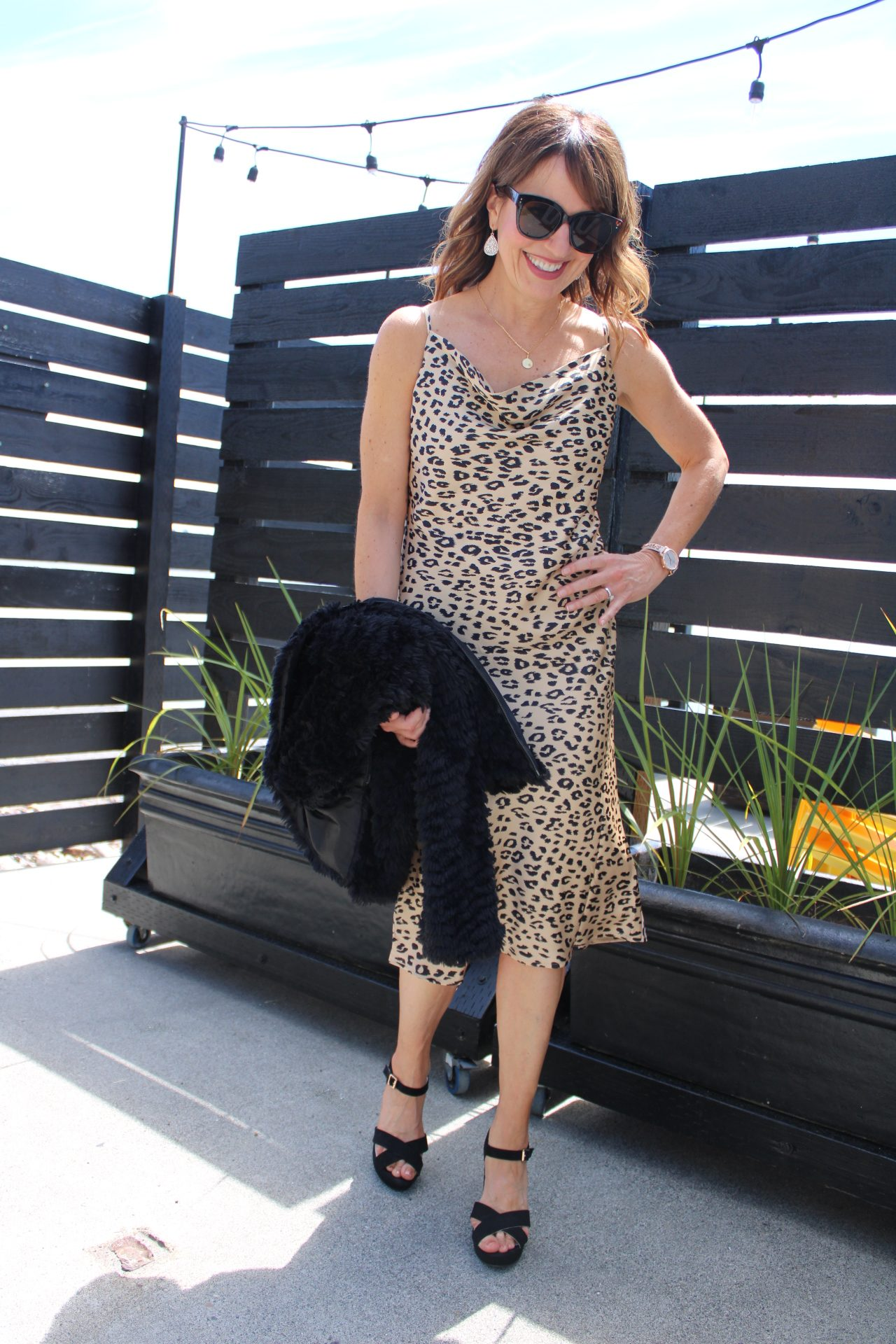 date night dress, leopard print slip dress