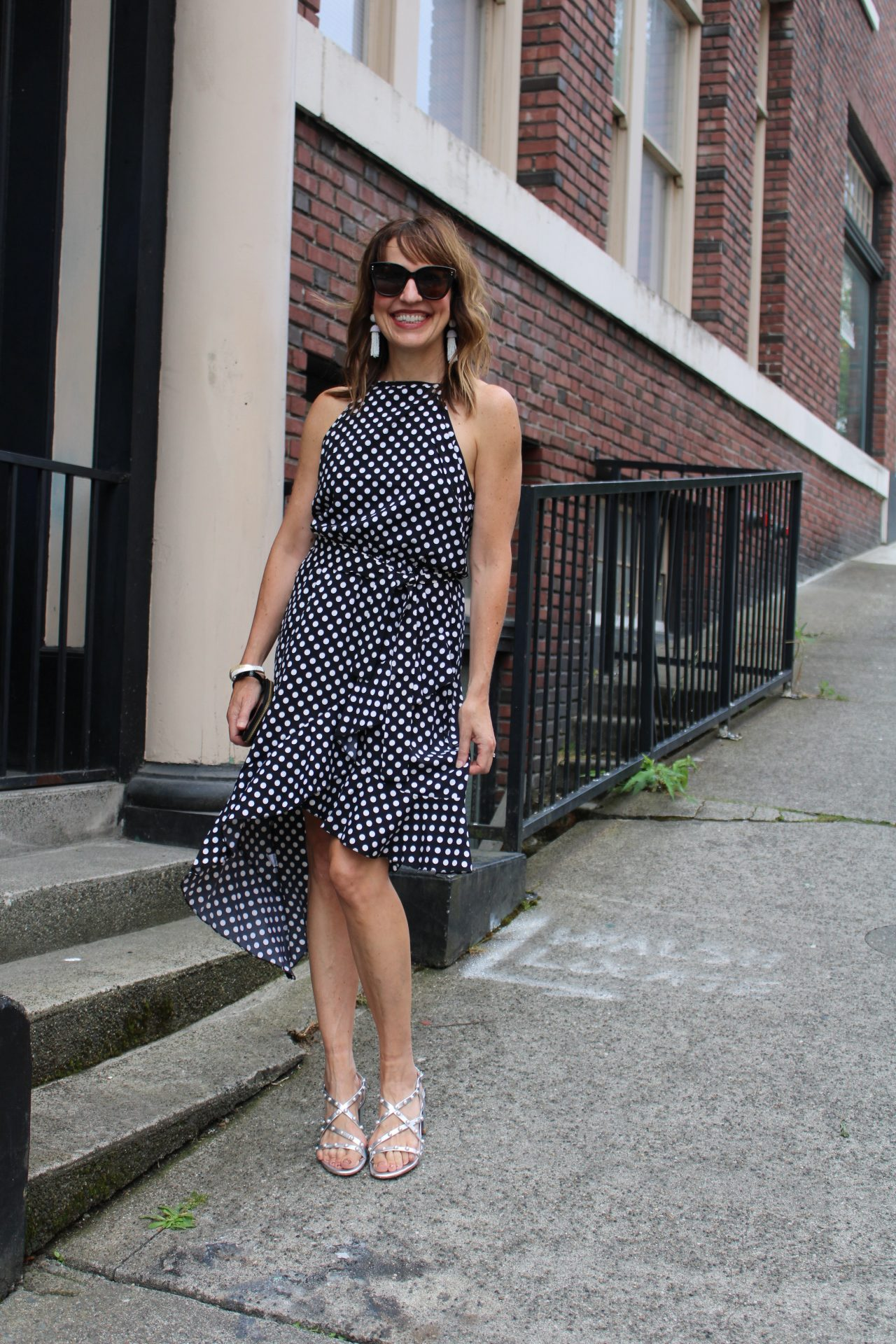 italy fashion trends polka dot dress