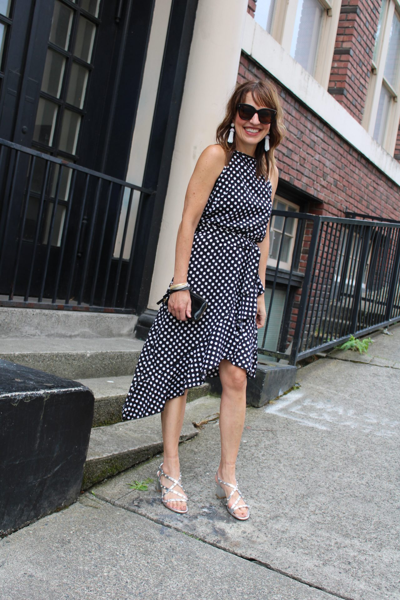 italy fashion trends halter style polka dot dress