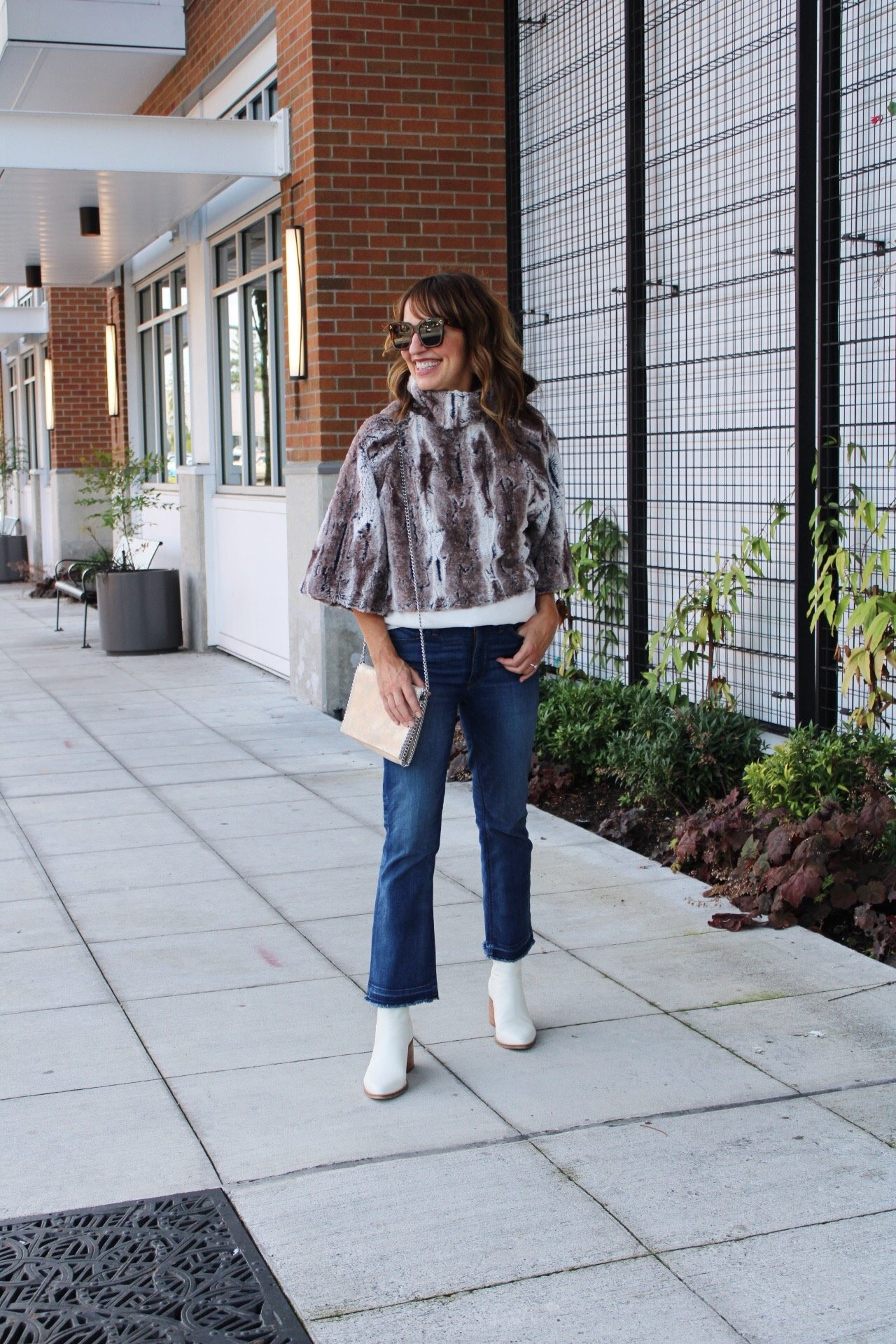 faux fur top, cozy fall fashion