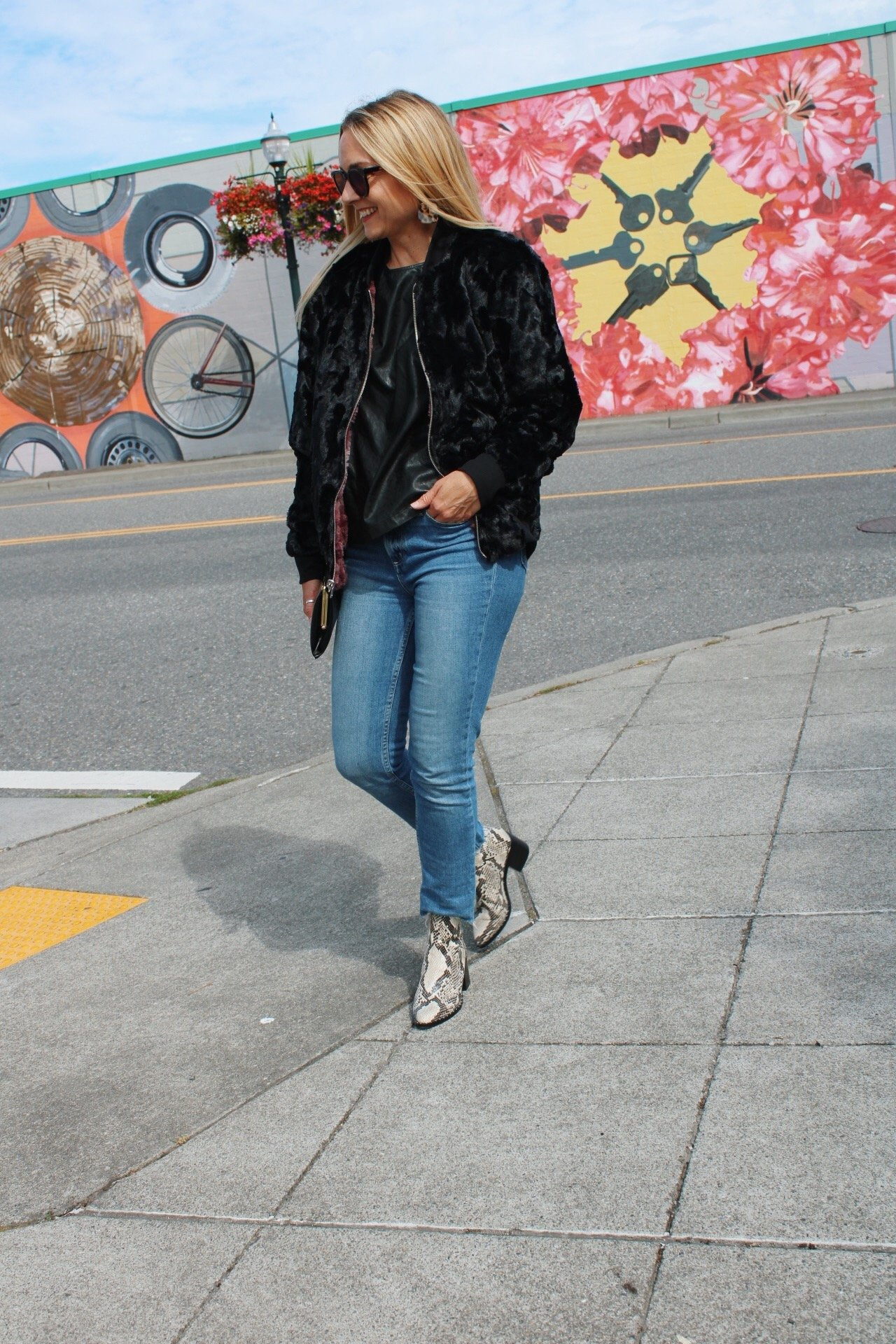faux fur bomber jacket, reversible jacket