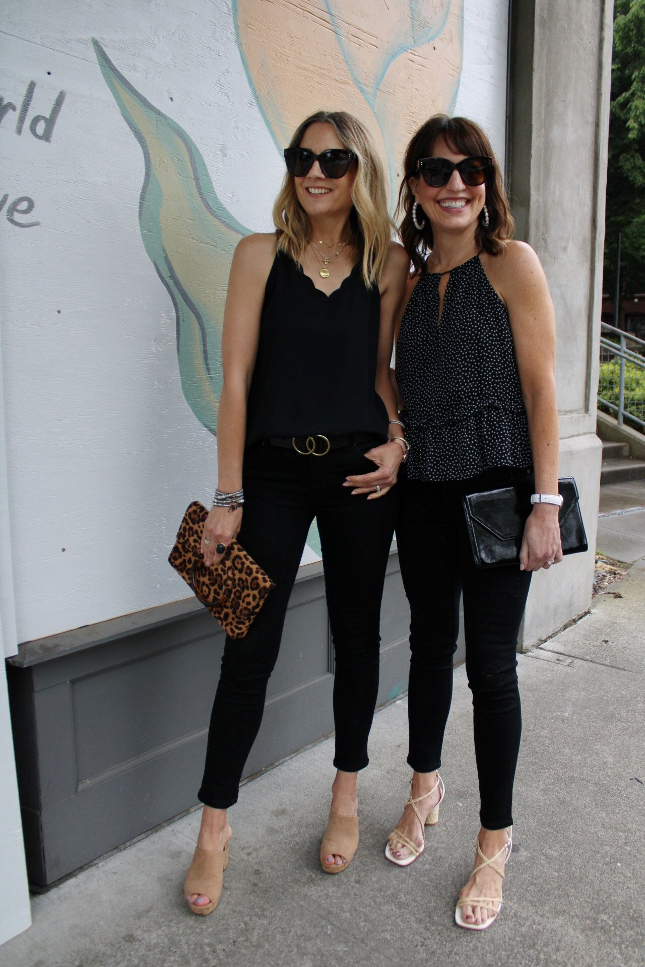 black monochrome summer outfits