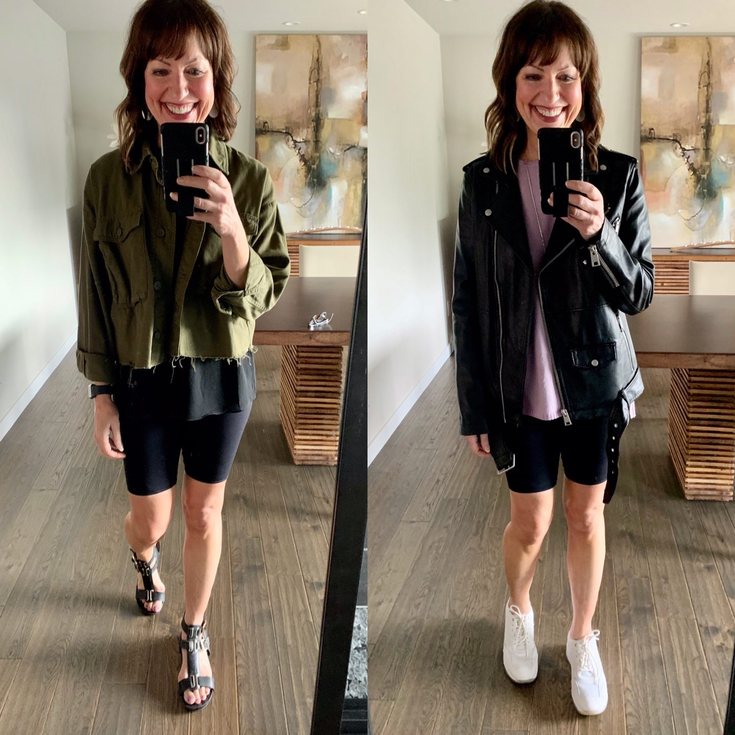 styling biker shorts outfits