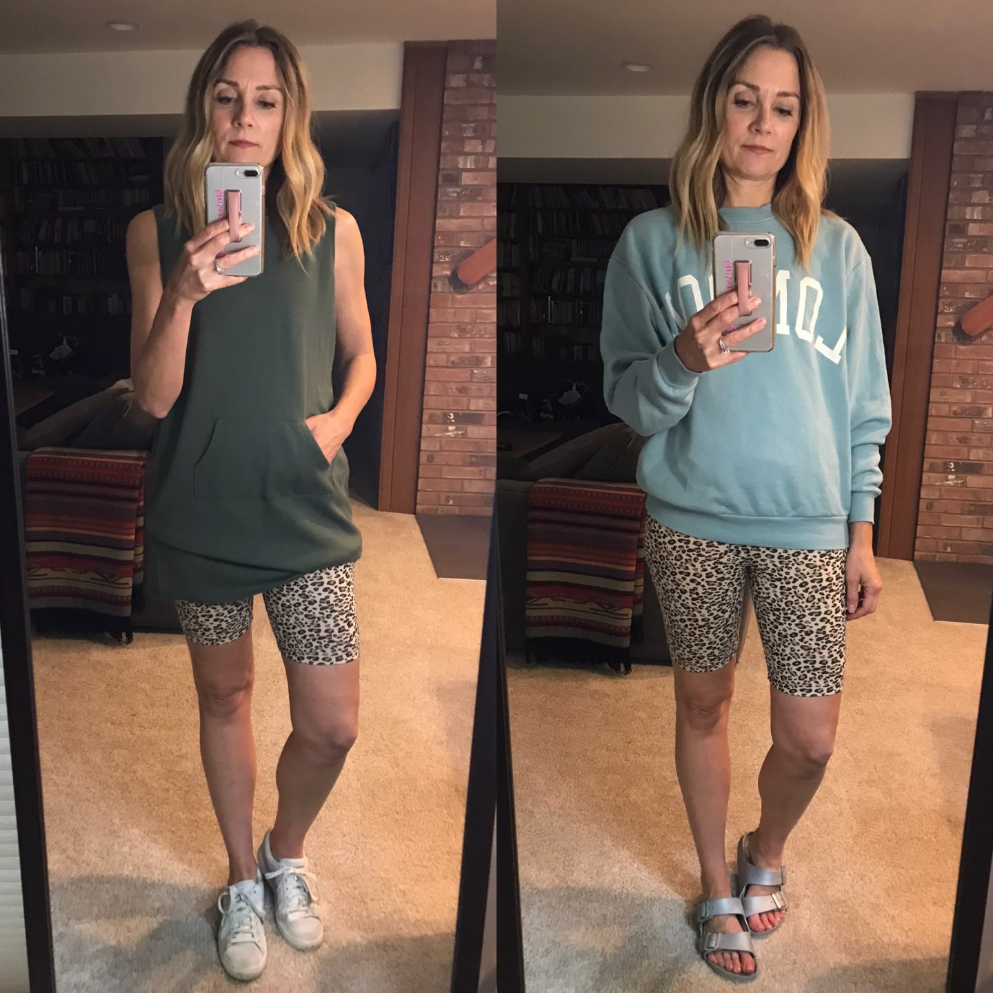 casual biker shorts outfits