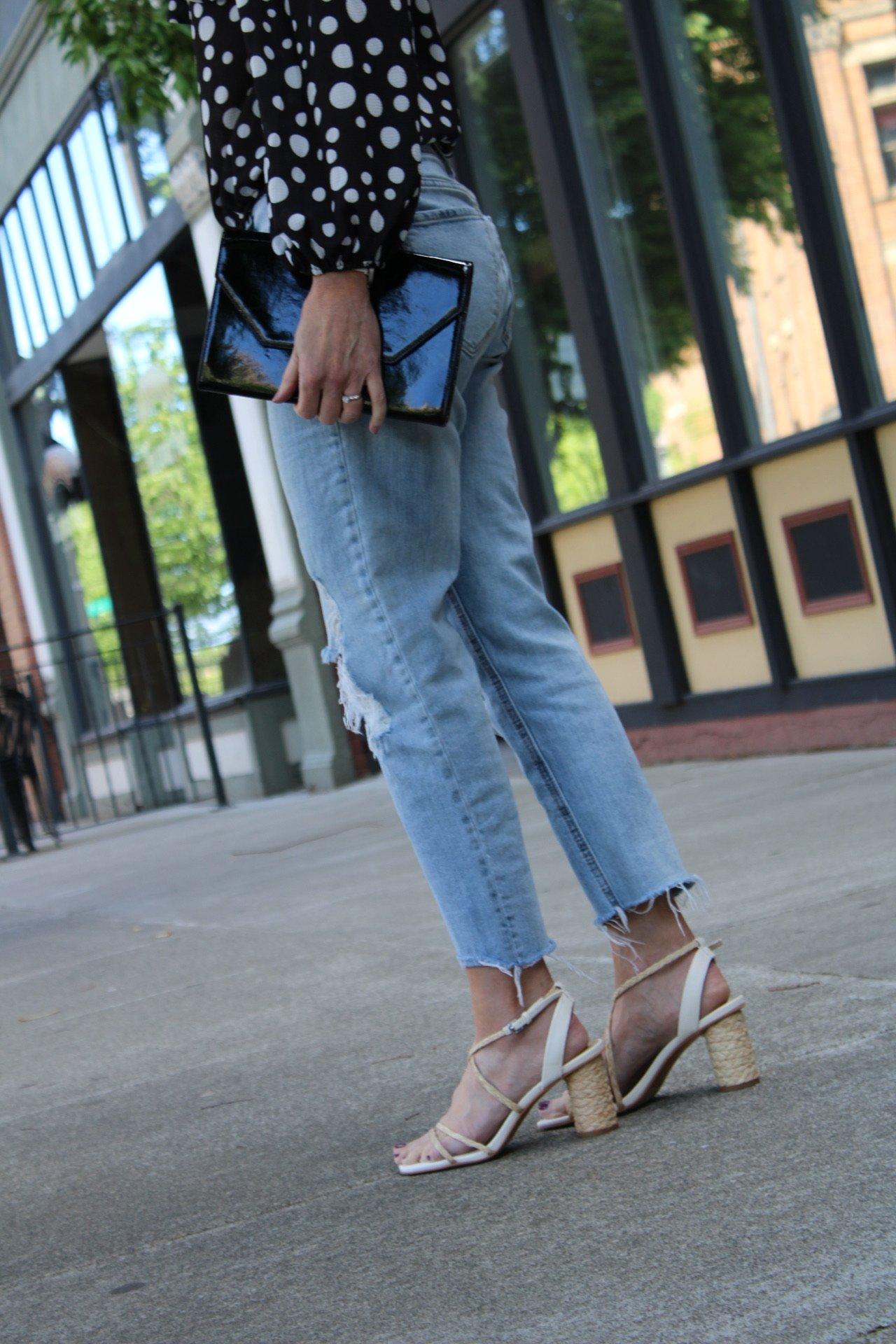 strappy raffia sandals